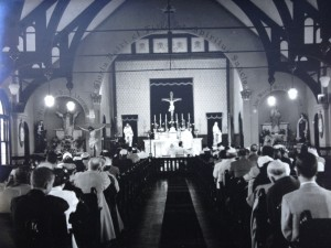 Inside old church - 1937