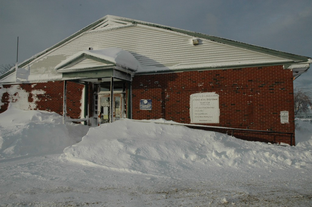 Parish Center snow