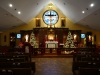 The sanctuary in silent awe of the newborn King
